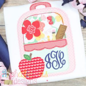 Back To School Backpack-Scallops-Triple Bean