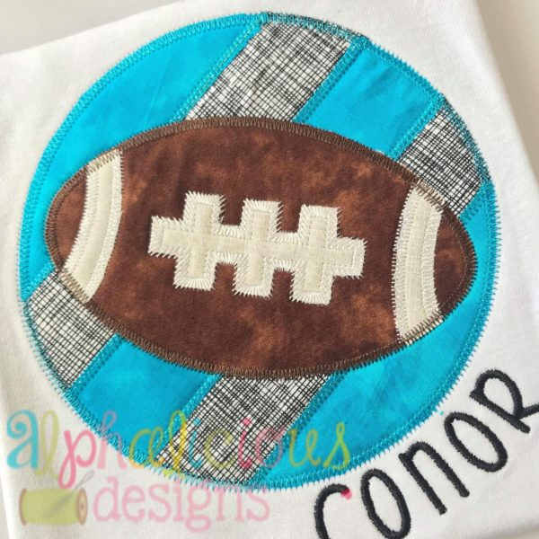 Patchwork Frame With Football-ZigZag