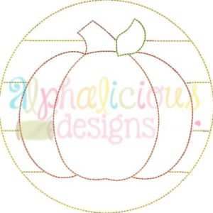 Patchwork Circle Pumpkin-Triple Bean