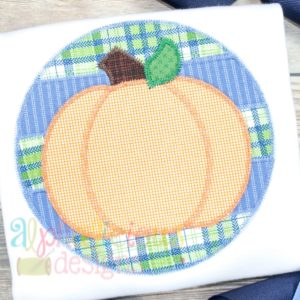 Patchwork Circle Pumpkin-ZigZag