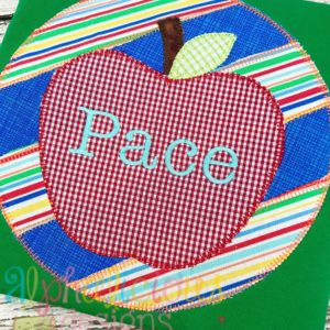 Patchwork Frame With Apple-Blanket
