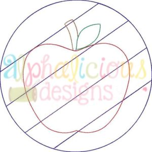 Patchwork Frame With Apple-Triple Bean