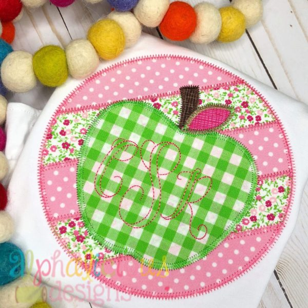 Patchwork Frame With Apple-ZigZag