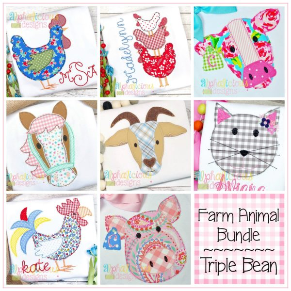 Farm Animal Bundle-Triple Bean