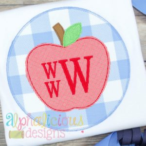 Simple Applique Apple- Triple Bean