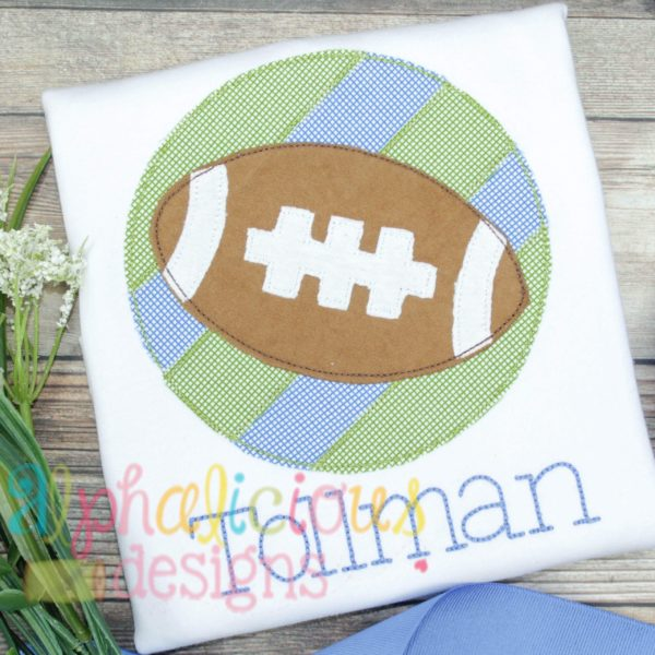 Patchwork Frame With Football-Blanket