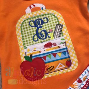 Back To School Backpack-Scallops-Blanket