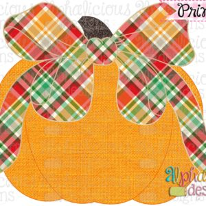 Big Bow Pumpkin-Printable