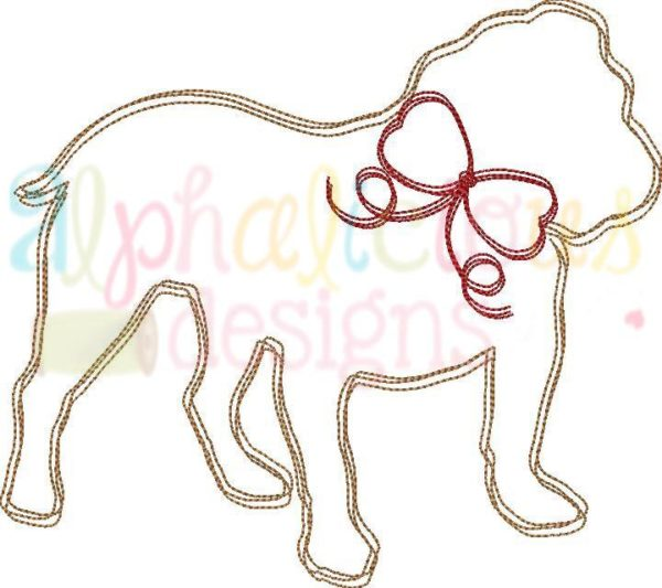 Bulldog With Bow- Scribble