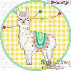 Celebration Llama-Printable