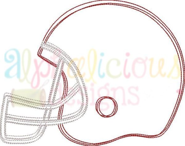 Football Helmet- Scribble