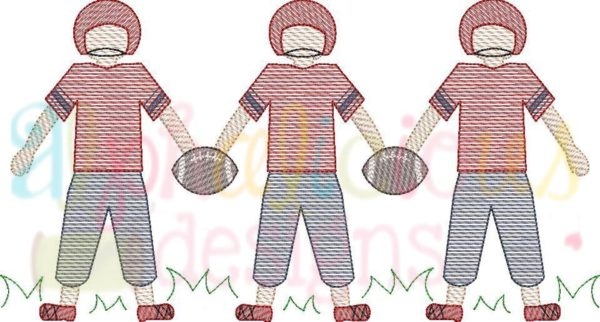 Football Player Three In A Row-Sketch