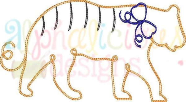 Tiger With Bow- Scribble