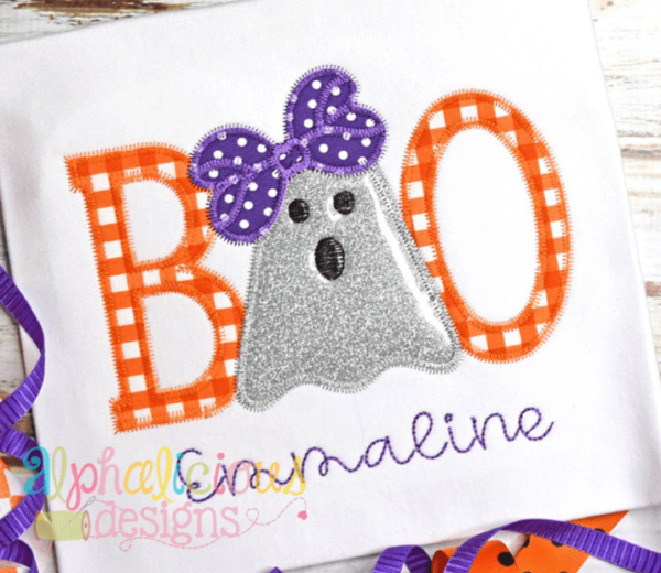 BOO with Bow- ZigZag