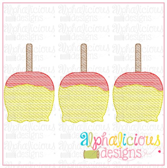 Candy Apple Three In a Row-Sketch