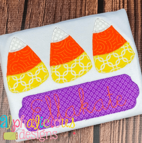 Candy Corn Three In a Row- Blanket