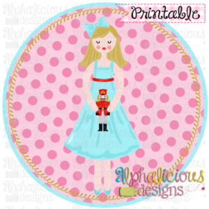 Nutcracker Clara In Circle-Printable
