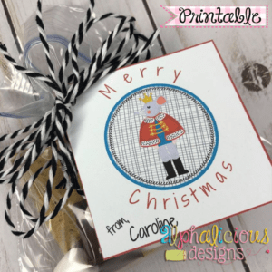 Nutcracker Mouse King In Circle-Printable