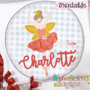 Nutcracker Sugar Plum Fairy In Circle-Printable