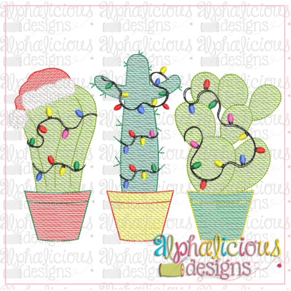 Christmas Cacti Trio-Sketch