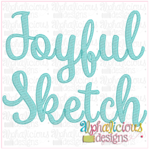 Joyful Sketch Embroidery Font