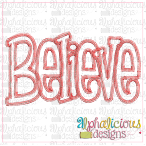 Believe Applique Word-ZigZag