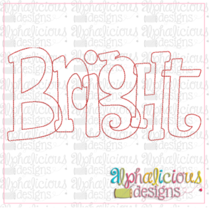 Bright Applique Word-Triple Bean