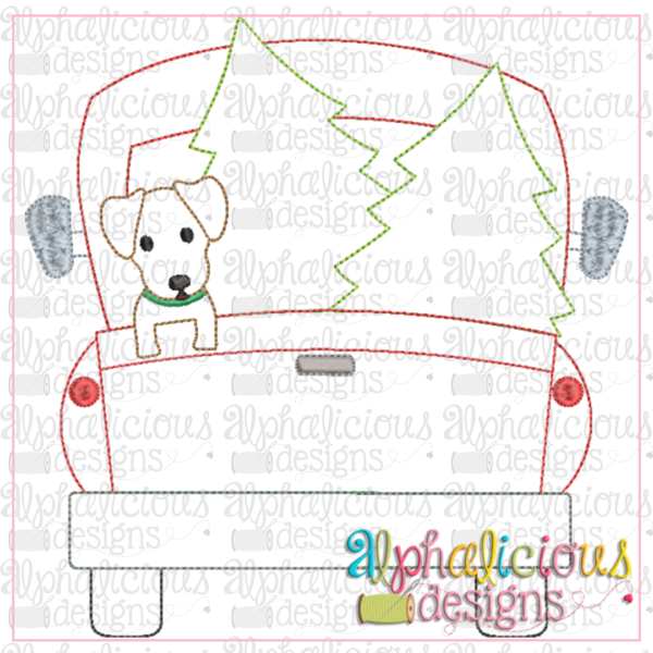 Christmas Dog Truck-Triple Bean