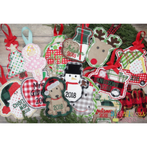 In The Hoop Christmas Ornament Bundle