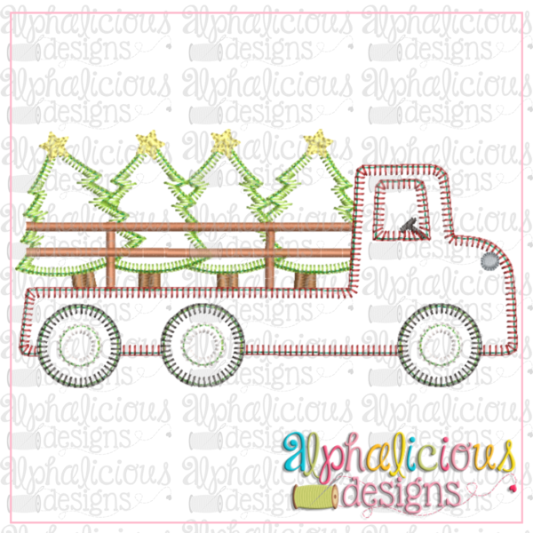 Flatbed Tree Truck- Blanket