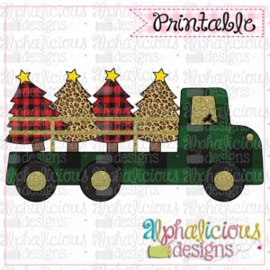 Green Buffalo Plaid Truck