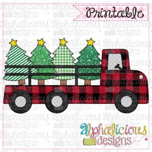 Red Buffalo Plaid Truck
