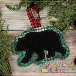 Black Bear-ITH Ornament-Alphalicious Designs