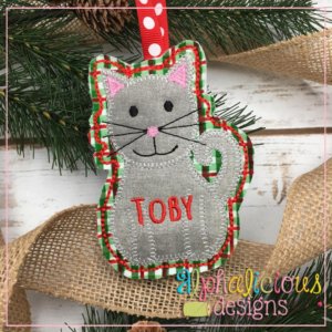Cat-ITH Ornament-Alphalicious Designs