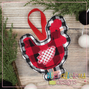 Chicken-ITH Ornament-Alphalicious Designs
