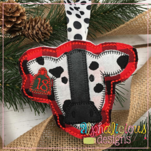 Cow Ornament-Alphalicious Designs