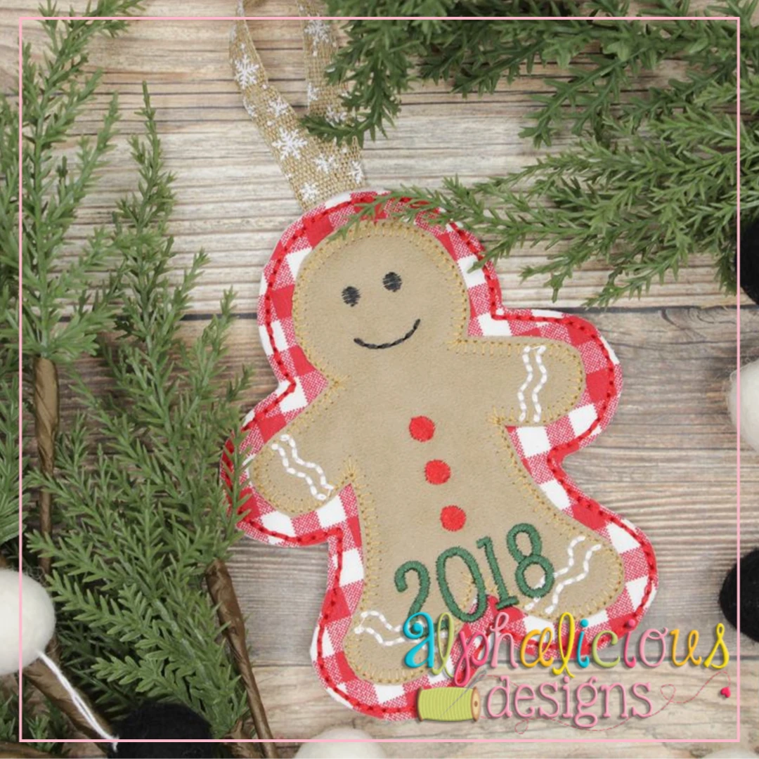 Gingerbread-ITH Ornament-Alphalicious Designs