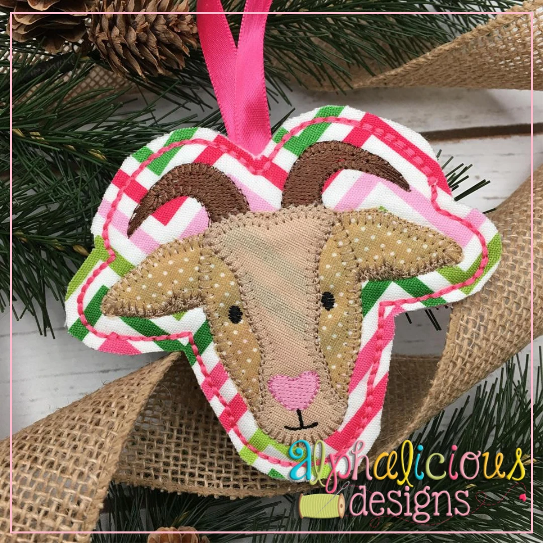 Goat-ITH Ornament-Alphalicious Designs