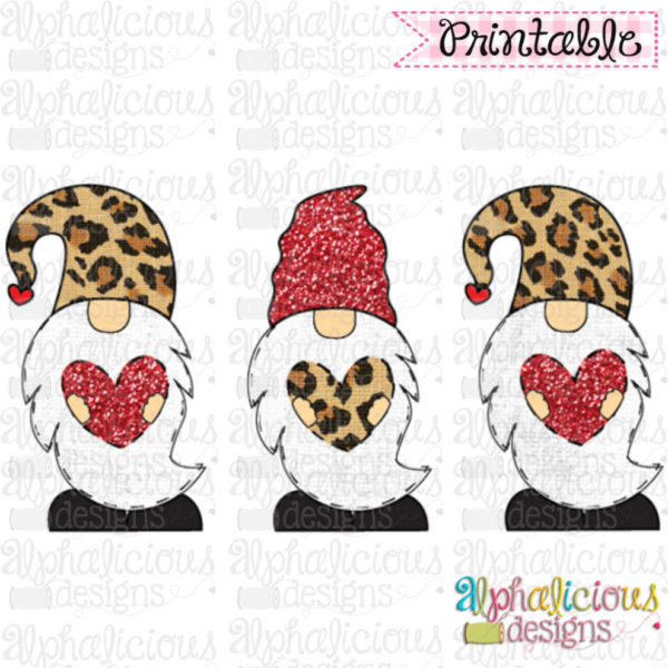 Valentines Gnomes-TIAR-Leopard and Red