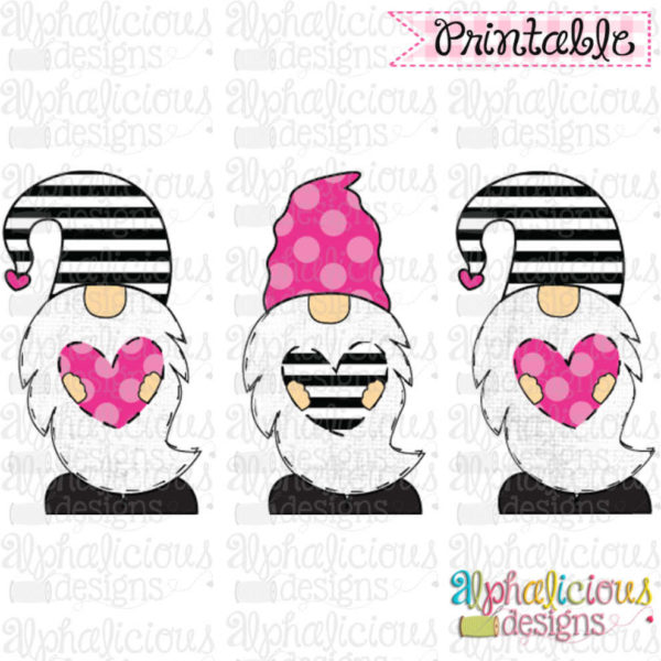 Valentines Gnomes-TIAR-Pink and Black