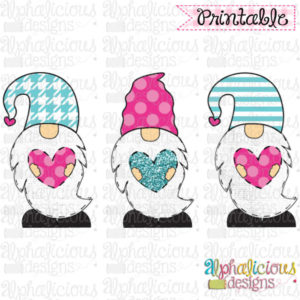 Valentines Gnomes-TIAR-Pink and Turquoise