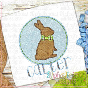 Bunny In Circle Frame-Blanket