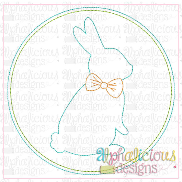 Bunny In Circle Frame-Triple Bean