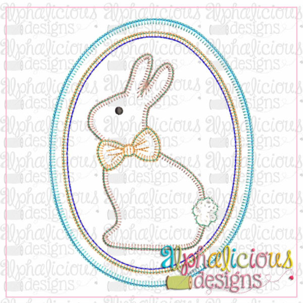 Classic Bunny In Oval Frame-Blanket