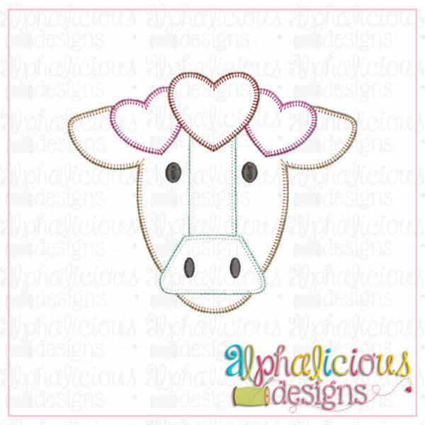 Farm Cow with Hearts-Blanket