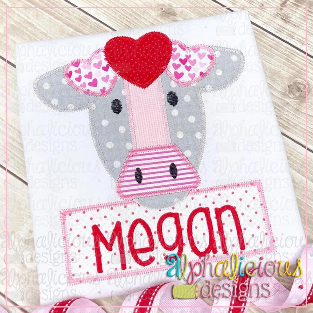 Farm Cow with Hearts-ZigZag