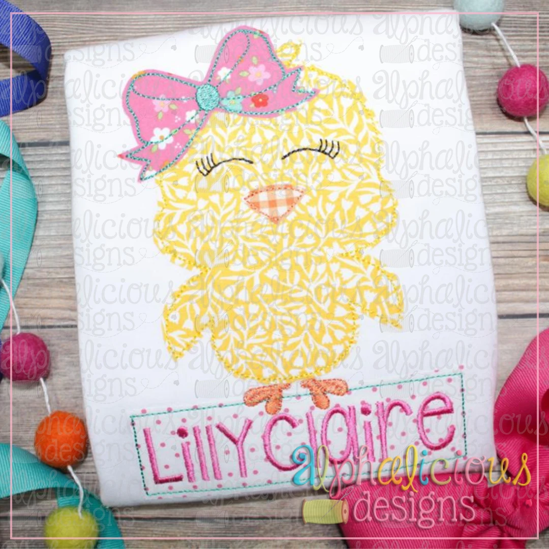 Little Chick with Bow-Triple Bean