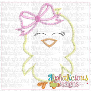 Little Chick with Bow-Zig Zag