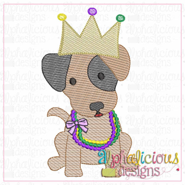 Mardi Gras Crown Pup-Sketch