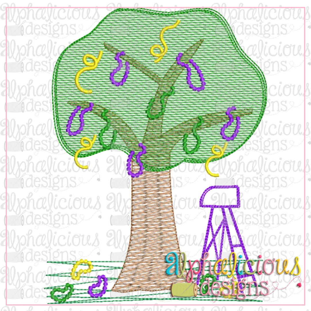 Mardi Gras Tree-Sketch